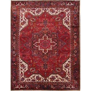 "Vintage Hand Knotted Wool Oriental Heriz Persian Carpet Area Rug - 12'2"" x 9'8"""