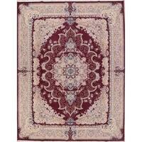 "Copper Grove Kelokedara Acrylic/Wool Soft Plush Geometric Tabriz Persian Carpet Heirloom Item Area Rug - 13'0"" x 9'6"""