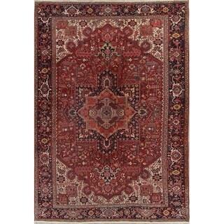 "Antique Handmade Oriental Heriz Persian Living RoomCarpet Area Rug - 12'7"" x 9'3"""