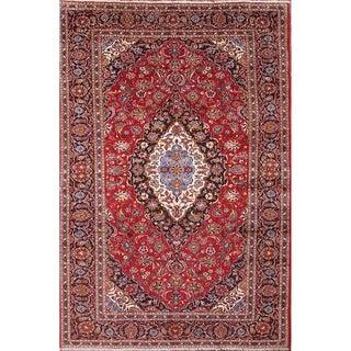"Handmade Medallion Persian Wool Area Rug For Dining Room - 12'9"" x 8'7"""