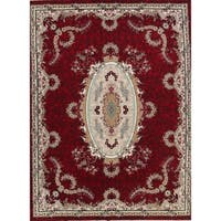 Copper Grove Mariager Soft Pile Acrylic Medallion Tabriz Persian Style Area Rug - 12'1 x 9'8