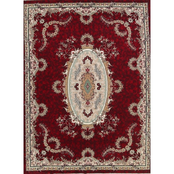 """Copper Grove Mariager Soft Pile Acrylic Medallion Tabriz Persian Style Area Rug - 12'10"""" x 9'8"""""""