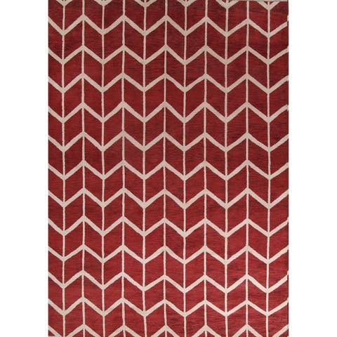 "Oushak Trellis Indian Handmade Oriental Area Rug For Living Room - 10'0"" x 14'0"""