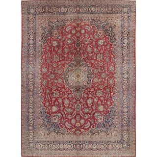 Vintage Hand Knotted Wool Floral Dabir Persian Area Rug For Livingroom - 14' 3'' x 10' 8''
