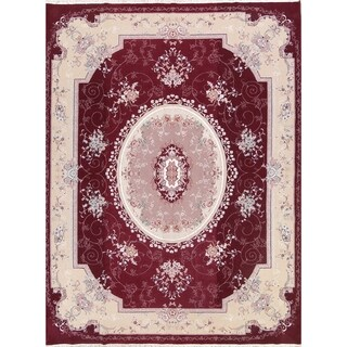 Acrylic and Wool Soft Plush Floral Tabriz Persian Carpet Area Rug - 12' 10'' x 9' 6''