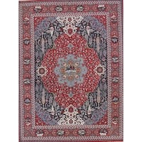 Gracewood Hollow Abcarius Wool Blend Floral Pile Floral Persian Rug - 12'11 x 9'7