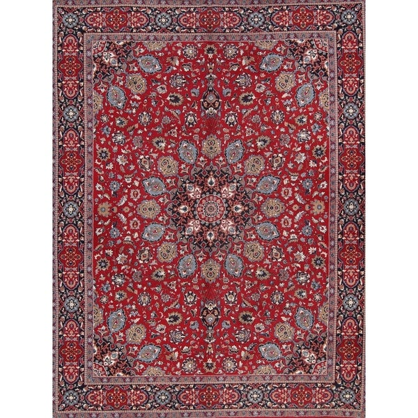 Acrylic Wool Soft Pile Floral Persian Style Dining Room Area Rug