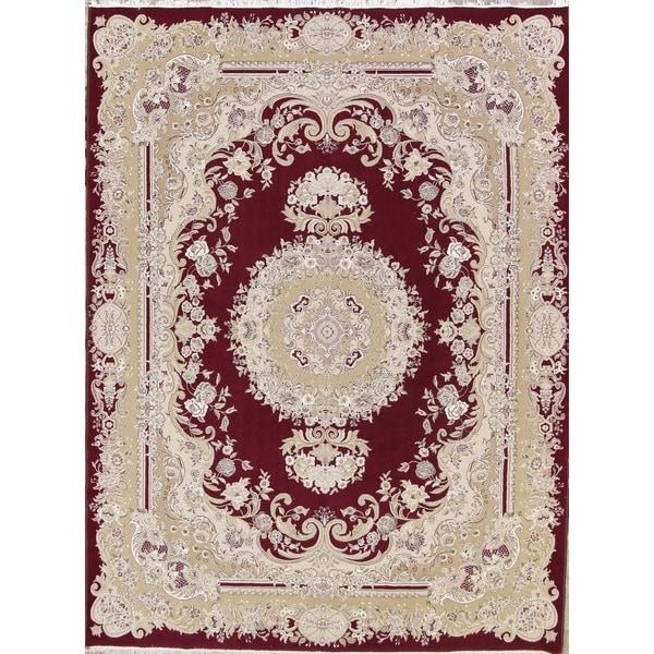 "Copper Grove Kalavasos Acrylic Soft Pile Floral Tabriz Persian Style Carpet Area Rug - 13'0"" x 9'8"""