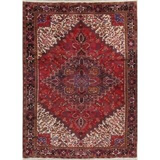 """Handmade Oriental Heriz Persian Vintage Wool Area Rug - 13'1"""" x 10'0"""""""
