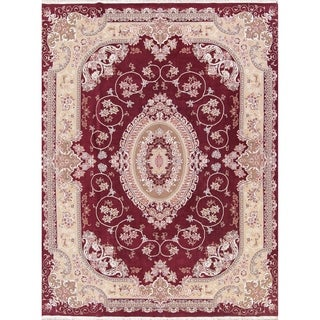 "Copper Grove Hassing Plush Red Tabriz Acrylic Persian Area Rug - 13'1"" x 9'8"""