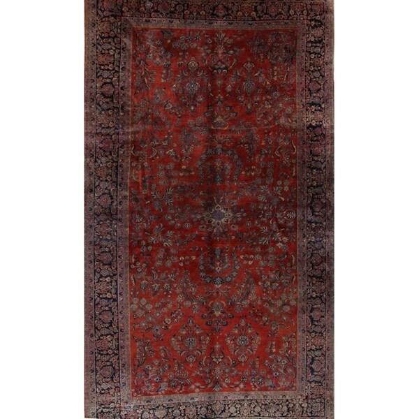 Shop Antique Handmade Wool Floral Sarouk Persian Large