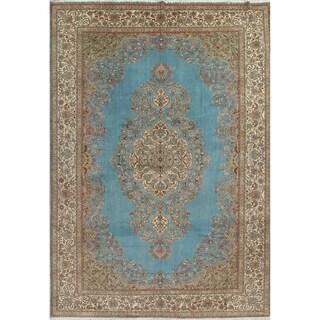 Vintage Hand Knotted Floral Tabriz Persian Large Livingroom Area Rug - 15' 11'' x 11' 8''