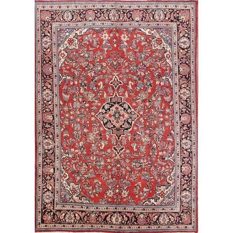 "Vintage Floral Sarouk Handmade Persian Large Area Rug For Living Room - 12'5"" x 8'7"""