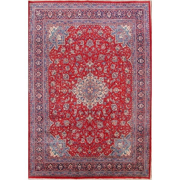 Hand Knotted Persian Style Wool Pile Area Rug: Shop Vintage Hand Knotted Wool Floral Wool Sarouk Persian