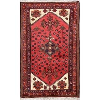"Handmade Woolen Geometric Hamedan Persian Tribal Carpet Area Rug - 5'1"" x 3'2"""
