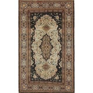 "Antique Handmade Wool Floral Mohtasham Persian Foyer Carpet Area Rug - 7'1"" x 4'1"""