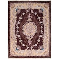 "Copper Grove Kampia Acrylic/Wool Floral Soft Plush Kerman Persian Carpet Area Rug - 13'1"" x 9'9"""