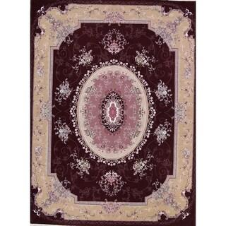 "Gracewood Hollow Achemian Wool Blend Floral Tabriz Tabriz Rug - 13'2"" x 9'10"""