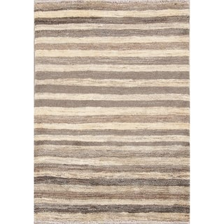 "Hand Knotted Wool Striped Gabbeh (Zolanvari) Shiraz Persian Area Rug - 4'6"" x 3'4"""