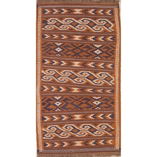 "Hand Woven Oriental Kilim Shiraz Persian Woolen Area Rug - 6'6"" x 3'6"""