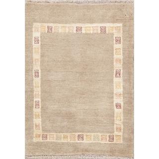 "Handmade Wool Oriental Gabbeh (Zolanvari) Shiraz Persian Area Rug - 4'9"" x 3'6"""