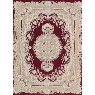"Copper Grove Kalavasos Acrylic and Wool Soft Pile Floral Tabriz Persian Style Carpet Area Rug - 13'0"" x 9'8"""