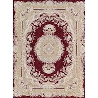 "Copper Grove Kalavasos Acrylic and Wool Soft Pile Floral Tabriz Persian Style Carpet Area Rug - 13'0"" x 9'8"""