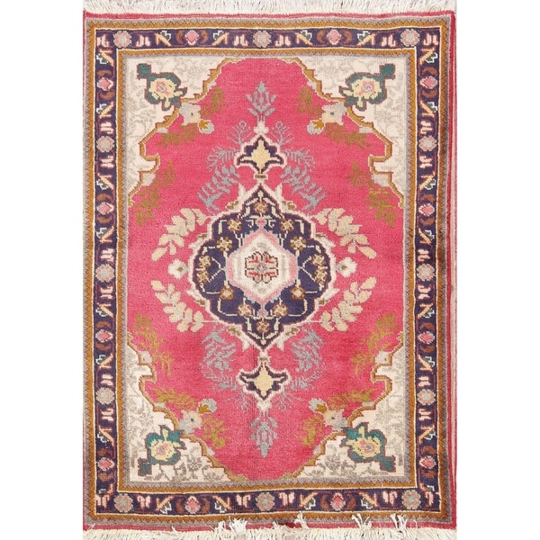 Hand Knotted Persian Tabriz Wool Area Rug Ebth: Shop Vintage Hand Knotted Wool Floral Tabriz Persian Area