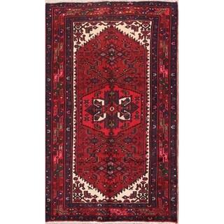 """Vintage Handmade Wool Oriental Hamedan Persian Carpet Area Rug - 6'10"""" x 4'2"""""""