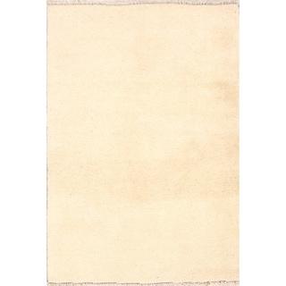 "Handmade Thick Pile Solid Gabbeh Shiraz Persian Wool Area Rug - 4'8"" x 3'3"""