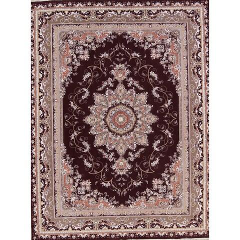 "Copper Grove Lefkara Acrylic/Wool Soft Pile Tabriz Persian Style Floral Carpet Area Rug - 12'9"" x 9'8"""