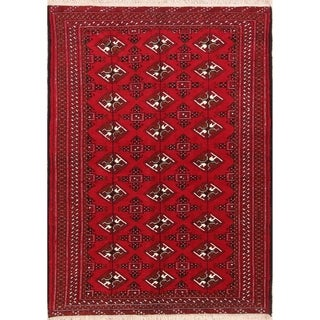 "Hand Knotted Wool Oriental Balouch Persian Carpet Area Rug - 6'2"" x 4'4"""
