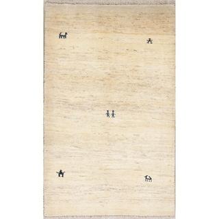 "Handmade 100% Wool Gabbeh Shiraz Persian Carpet Area Rug Oriental - 5'6"" x 3'5"""