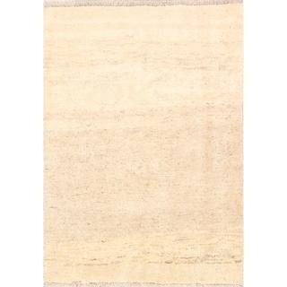 "Handmade Thick Pile Solid Modern Gabbeh Shiraz Persian Wool Area Rug - 4'8"" x 3'7"""