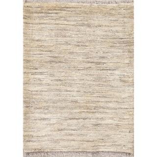 "Hand Knotted Solid Gabbeh Shiraz Zolanvari Persian Modern Wool Rug - 3'10"" x 2'11"""