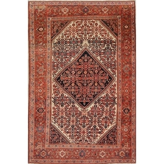 """Antique Handmade Wool Floral Malayer Mishen Persian Foyer Area Rug - 6'6"""" x 4'3"""""""