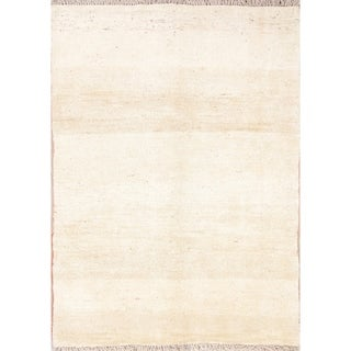 "Handmade Wool Solid Gabbeh Shiraz Persian Carpet Area Rug - 5'3"" x 3'10"""