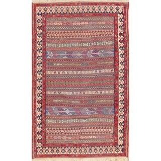 "Hand Woven Wool Oriental Kilim Shiraz Persian Area Rug For Bedroom - 6'7"" x 4'0"""