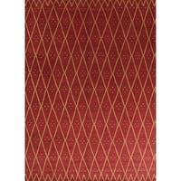 """Oushak Trellis Indian Hand Knotted Oriental Area Rug For Living Room - 10'0"""" x 13'9"""""""