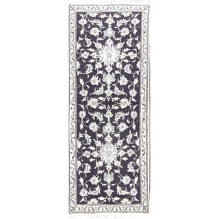 "Copper Grove Zygi Hand-knotted 100% Wool Floral Nain Persian Hallway Carpet Rug - 6'6"" x 2'6"" runner"