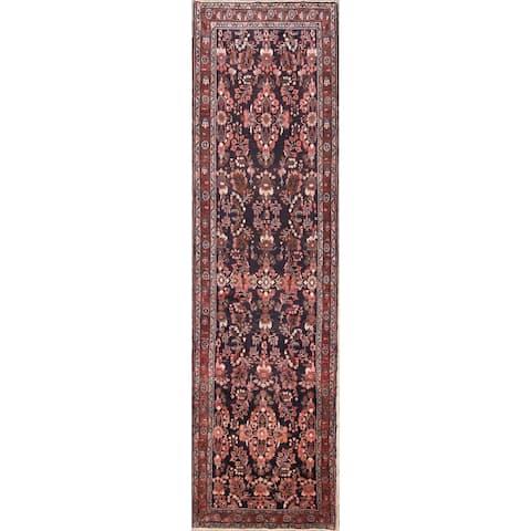 "Gracewood Hollow Zabuzhko Handmade Floral Wool Persian Runner Rug - 13'8"" x 3'8"" runner"