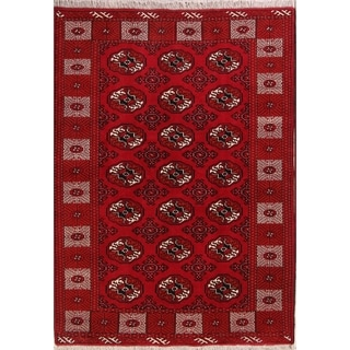 "Hand Knotted Wool Oriental Balouch Persian Carpet Area Rug - 7'4"" x 5'3"""
