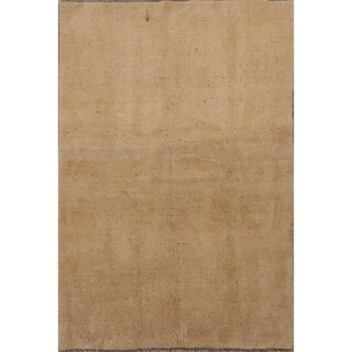 "Handmade Wool Contemporary Solid Gabbeh Shiraz Persian Carpet Area Rug - 6'9"" x 4'8"""
