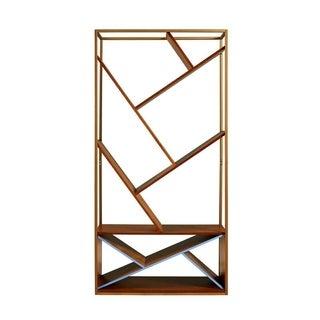 Versanora - Wellton Bookcase - Walnut/Brass