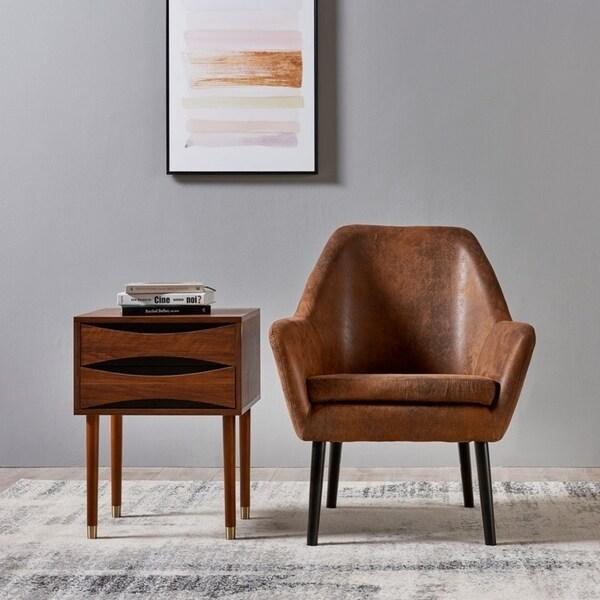 Versanora - Dawson Side Table - Walnut