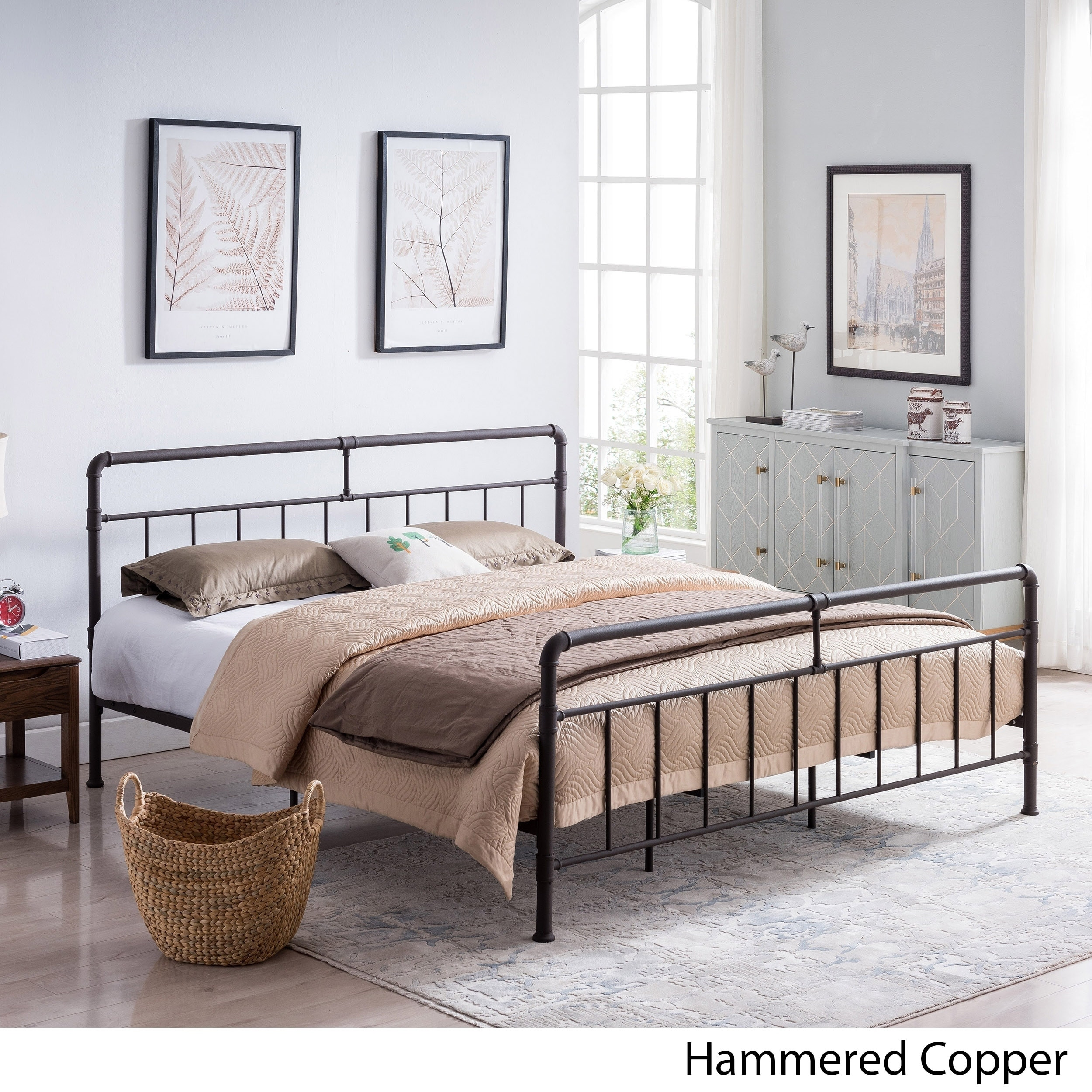 Mowry Industrial King Size Bed Frame By Christopher Knight Home On Sale Overstock 24115160