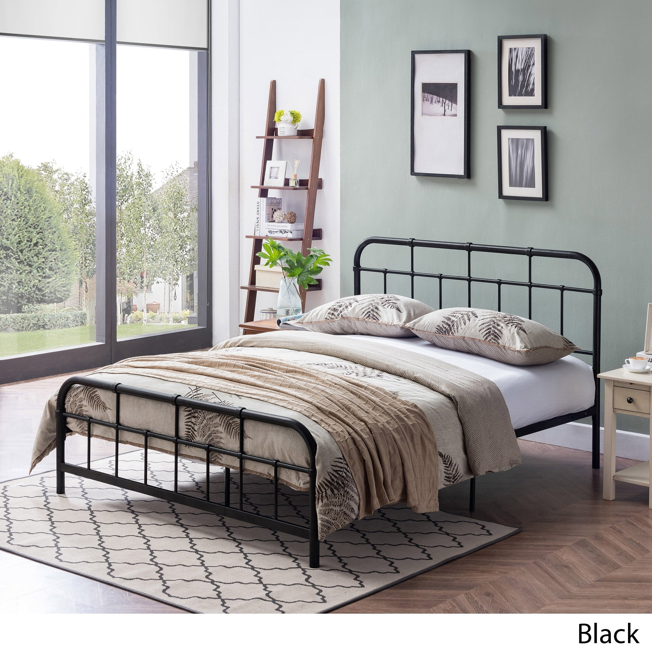 Berthoud Industrial Bed Frame By Christopher Knight Home On Sale Overstock 24115166