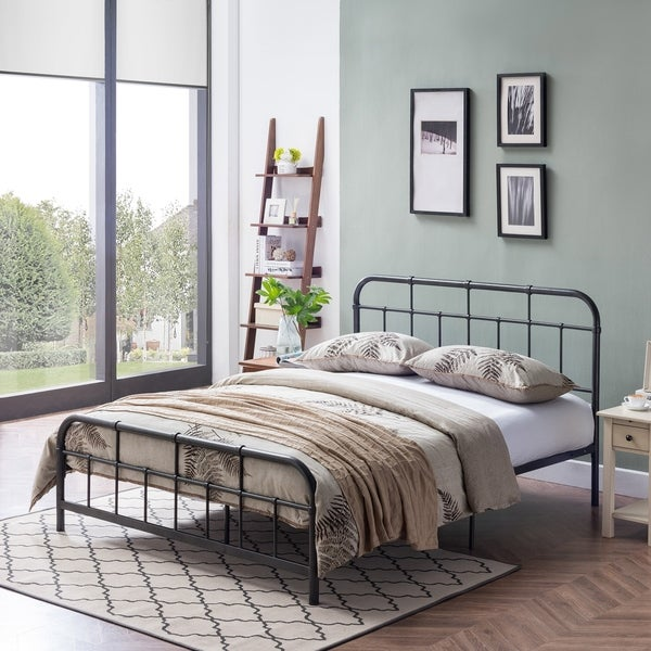 Shop Berthoud Industrial Queen Size Iron Bed Frame By Christopher