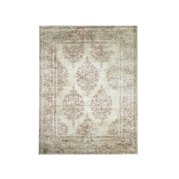 Shop Washed Out Patterned Area Rug In Recycled Polyester Brown And Classy Patterned Area Rugs
