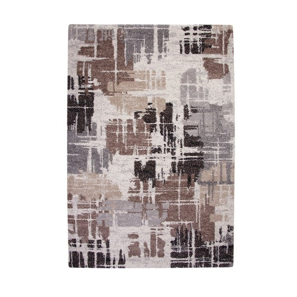 Contemporary Style Thick And Plush Area Rug With Fine lines, Multicolor - Multi - 5' x 8'